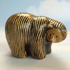 "Gustavsberg Lisa Larson 3½"" Brown Bear Figurine - Scandinavia Sweden Pottery in Pottery & Glass, Pottery & China, Art Pottery | eBay"