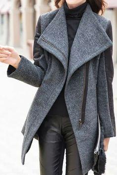 Cozy Grey Ladies Winter Coat