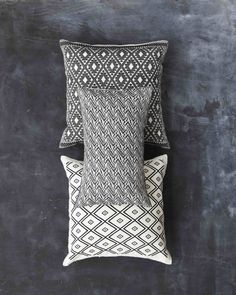 Onora Casa: Traditional Mexican Goods Made Modern - Remodelista Mexican Pillows, Mexican Textiles, Mexican Interior Design, Mexican Designs, Bedroom Decor For Teen Girls, Teen Girl Bedrooms, Mexican Pattern, Black And White Pillows, White Pillow Covers