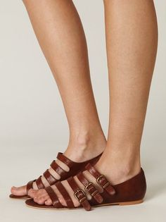 sandal flats + strappy & buckley + a supportive sandal that still shows off your pedicure