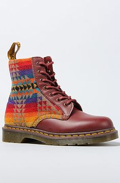 The Pendleton x Dr. Martens 1460 Boot in Cherry Red by Dr. Martens