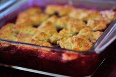 Easy and delicious classic plum cobbler, using Santa Rosa plums, topped with a biscuity cobbler topping.