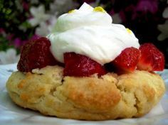 """Easy Strawberry Shortcake: """"These shortcakes have just the right texture without being too 'biscuity'."""" -Scout33"""