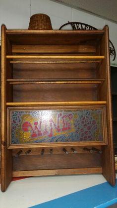 Wooden wine rack $22.50