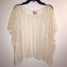 Flowing Lace Top  Gorgeous flowy lace top. Like new condition. Very light and comfortable. Perfect for summer  Nordstrom Tops Blouses
