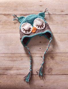 Crochet owl hat!    elvia