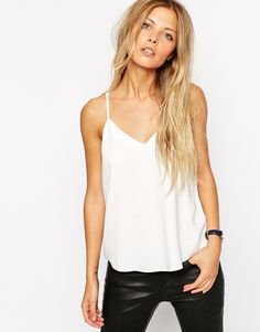 Image 2 of ASOS Plunge Neck Strappy Cami Top