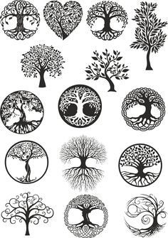 Vector ornament, decorative Celtic tree of life Ve. - Vector ornament, decorative Celtic tree of life Vector,tree digital file,tree dx… Vector ornamen - Tattoo Life, Tree Of Life Tattoos, Karma Tattoo, Vector Trees, Vector Art, Vector File, Tattoo Drawings, Body Art Tattoos, Celtic Tree Of Life