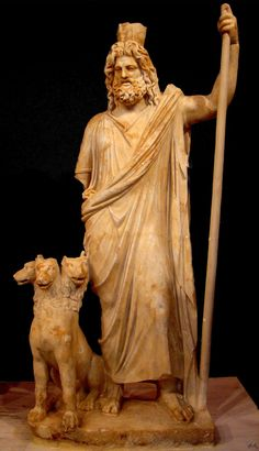Sculpure of Hades and Cerebus sculpted around 400 BC.