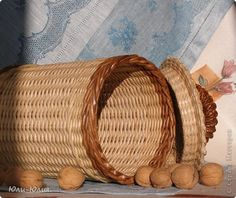Поделка изделие Плетение Простые вещи или В духе народного промысла Трубочки бумажные фото 12