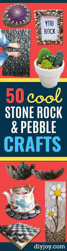 Pebble and Stone Crafts - DIY Ideas Using Rocks, Stones and Pebble Art - Mosaics, Craft Projects, Home Decor, Furniture and DIY Gifts You Can Make On A Budget http://diyjoy.com/diy-pebble-stone-crafts