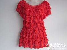 Crochet Ruffled Top