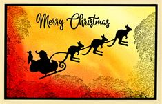 Hot, Dry Christmas Eve by helekins - Cards and Paper Crafts at Splitcoaststampers Australian Christmas Cards, Aussie Christmas, Summer Christmas, Christmas 2019, Christmas Things, Chrismas Cards, Simple Christmas Cards, Xmas Cards, Christmas In Australia