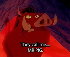 I love Pumba! Loin King is the best Disney movie! Disney And Dreamworks, Disney Pixar, Walt Disney, Disney Memes, Disney Quotes, Disney Love, Disney Magic, Lion King Quotes, Le Roi Lion