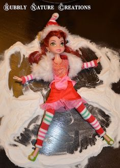 Rosetta.......repurposed into girl elf on a shelf!!!! Loving it:) Why didn't I think of this?!?!?