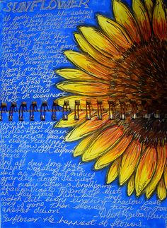 gorgeous sunflower journal page