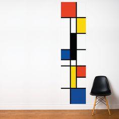 Pop Mondrian wall strip @ Touch of Modern Pop Mondrian Wandleiste @ Touch of Modern Piet Mondrian, Mondrian Kunst, Inspiration Wand, Pop Art Wallpaper, Wallpaper Wallpapers, Kitchen Wallpaper, Modern Wallpaper, Paint Designs, Geometric Shapes