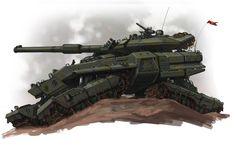 concept tanks: Concept tank art by Ben Wootten