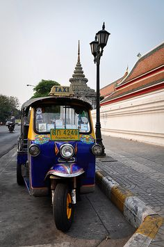 tuk tuk ride. I rode in one of these in the Philippines. Fun times.