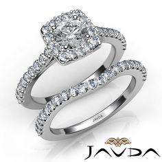 Round Diamond Engagement Ring Certified by GIA, E Color & VS1 clarity, 14k White Gold (1.5 ct. Total weight.)