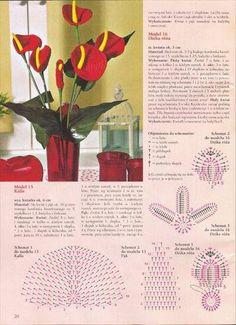 Szydełkowy kwiat