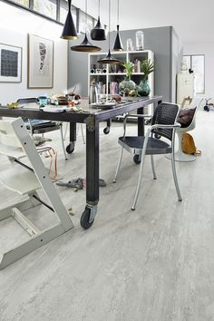 Laminat | LC 55 | Mystery White | 6419 | Dekor – Essen Familie Wohnen Metall grau MEISTER