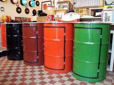 Metal Barrel Cupboard Recycled Furniture Recycling Metal