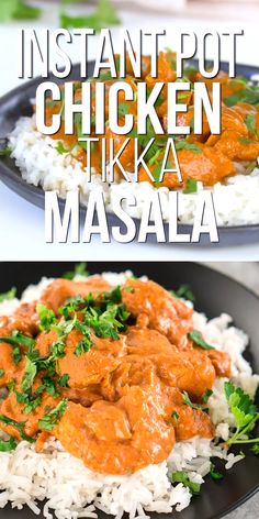 This Instant Pot Chicken Tikka Masala is an easy and flavorful weeknight dinner made with chicken in a creamy tomato based sauce with a lot of bold spices. Always a family favorite. Slow Cooker Tikka Masala, Poulet Tikka Masala, Easy Chicken Tikka Masala, Chicken Tandoori Masala, Chicken Tiki Masala, Lamb Tikka Masala, Tikka Masala Sauce, Tika Massala, Tikka Recipe