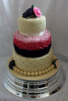 Ruffle birthday cake!! :-)