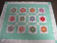 Sew Kind Of Wonderful: Annette's Hexagon Quilt #1
