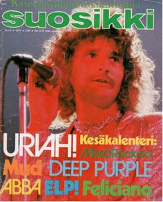 Suosikki 6/1974 Old Commercials, Magazine Articles, Teenage Years, Old Toys, Deep Purple, Album Covers, Finland, Growing Up, Retro Vintage