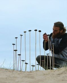 For Jon Foreman, land art has been his life since he left school Work Images, Life Images, Giant Jellyfish, Sand Drawing, Milford Haven, Ephemeral Art, Garden Rake, School Images, Beach Images