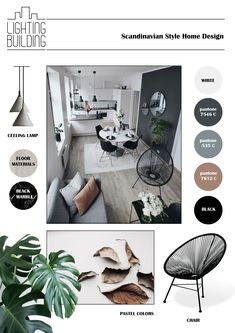 Mood Board Interior, Interior Design Boards, Interior Design Inspiration, Room Interior, Interior Styling, Moodboard Interior Design, Scandinavian Style Home, Scandinavian Interior, Interior Design Presentation