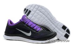 5076699a5c7c Nike Free 3.0 V5 Black White Purple TopDeals