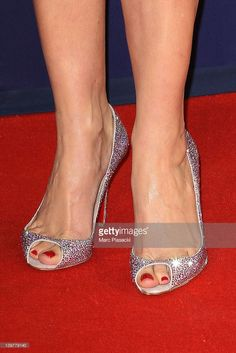 Actress Karin Viard (shoe detail) attends the 37th Cesar Film Awards at Theatre du Chatelet on February 24, 2012 in Paris, France.