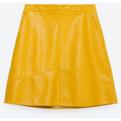 Zara A-Line Skirt (2.425 RUB) ❤ liked on Polyvore featuring skirts, bottoms, zara, bright yellow, a-line skirt, yellow a line skirt, zara skirts, knee length a line skirt and yellow skirt