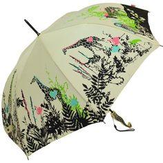 PARAPLUIE Parapluie motif Jungle - Crème - Manche Girafe - A