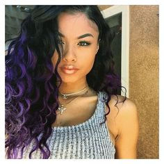 India Westbrook with subtle #purple #highlights! Check out more hair... ❤ liked on Polyvore featuring accessories, hair accessories and purple hair accessories