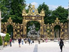 Nancy, France - Wikipedia, the free encyclopedia / Picture: Place Stanislas – Fountain of Amphitrite Nancy France, Ville France, Lorraine France, Nancy Lorraine, Places To See, Places Ive Been, Haute Marne, French Exterior, Ballrooms