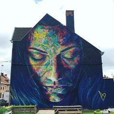 Indrukwekkende muurschildering van David Walker (@artofdavidwalker). Mooie kleuren. (147/366)  Impressive mural by David Walker (@artofdavidwalker). Love the colours. (147/366)  #roeselare #artofdavidwalker #davidwalker #globalstreetart #graff #graffiti #graffporn #graffitiart #graffitiporn #graffitistreet #instagraffiti #instagrafite #lovestreetart #mural #muralsdaily #publicart #rsa_graffiti #rsa_streetview #sprayart #streetart #streetartbelgium #streetartofficial #streetartphotography…