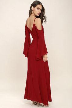 Lulus - Lulus Glamorous Greeting Red Maxi Dress - AdoreWe.com