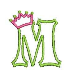 Applique Font Embroidery Design Crown by MyIttyBittyDesigns