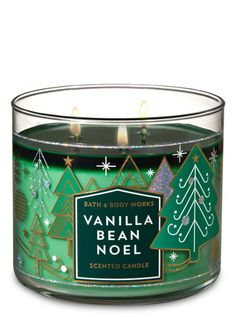 Vanilla Bean Noel Candle - Bath And Body Works - Christmas Wishlist 2018 - Perfume Bath Candles, 3 Wick Candles, Scented Candles, Candle Jars, Vanilla Candles, Candle Labels, Candle Holders, Perfume Diesel, Shea Butter