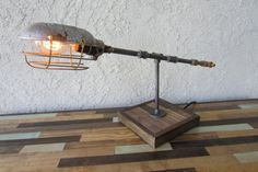Edison Trouble Light Metal Desk Lamp Reclaimed by UnionFurnishings