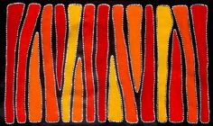 Aboriginal Artwork by Sally Clark. Sold through Coolabah Art on eBay. Cataogue ID 14223