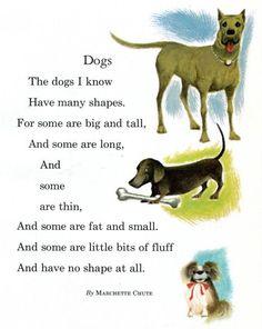 1950s children poems   1950's Dog Poem from a Children's Reader - Dachshund - Marchette Chute ...
