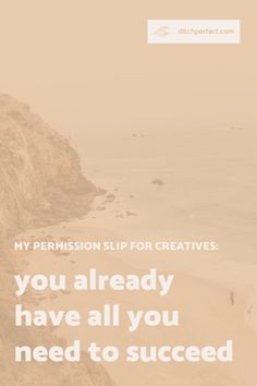 what to do when you feel like you don't have enough of what it takes in creative business — Ditch Perfect My Wish For You, The Way You Are, Believe In You, How Are You Feeling, Creative Business, Business Tips, Definition Of Success, I Respect You, Love Fest