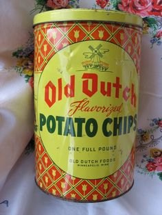 Vintage Old Dutch Potato chip container...this is cool....