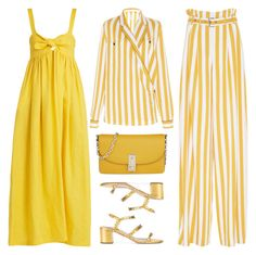 """""""Mellow Yellow"""" by cherieaustin ❤ liked on Polyvore featuring Maison Margiela, Marc Jacobs, Aquazzura and Mara Hoffman"""