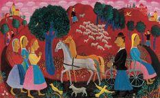 Pekáry István (Hungarian, 1905-1981), Fable, 1932. Oil on canvas, 80.5 x 131 cm.